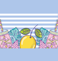 summer juice cartoons vector image