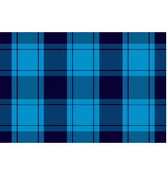 Tartan plaid pattern in blue print fabric texture vector