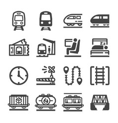 Train icon set vector