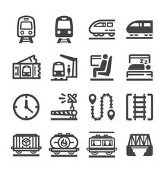 train icon set vector image