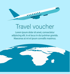 Travel voucher tour operator banner flyer layout vector