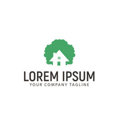 tree homes logo green house logo design concept vector image