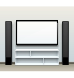 tv on wall vector image