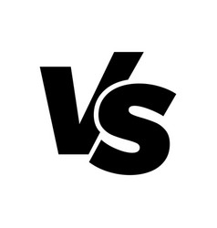 vs versus letters logo icon vector image