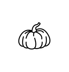 web line icon pumpkin black on white background vector image