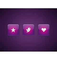 Web site buttons vector