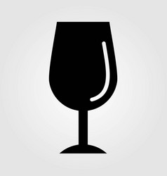 wineglass icon isolated on white background vector image