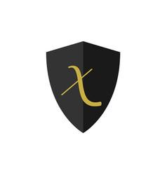 X letter logo template design vector