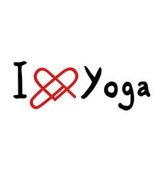 Yoga love message vector