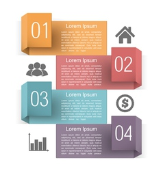 Design Template with Four Elements vector image vector image