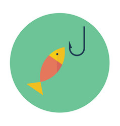 flat icon of fishing vector image