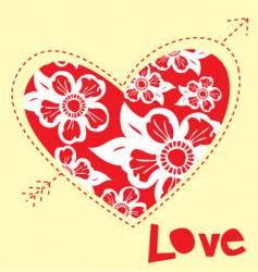 love shape heart vector image