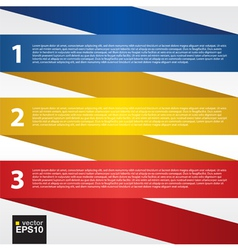 Abstract folded colorful ribbon EPS10 vector image
