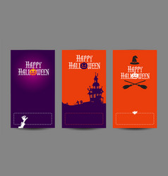Halloween holidays design templates vector