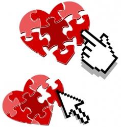 heart puzzle concept vector image