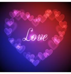Hearts Bokeh Background vector image vector image