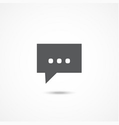 message icon on white vector image vector image