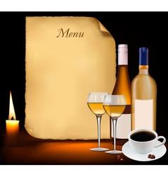 restaurant menu design vector vector image