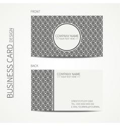 Vintage simple geometric monochrome business card vector image vector image