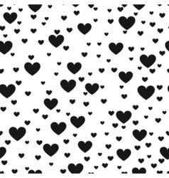 Heart black and white print background for website vector image