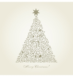 Musical Christmas tree vector image vector image
