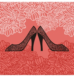 Shoes pattern background vector image vector image