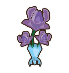 Bouquet anemone flower ornament image vector