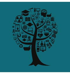 Tree of science vector image vector image