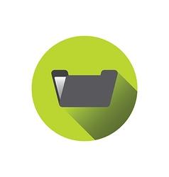 0510g flat folder icon vector
