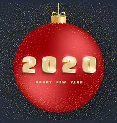 2020 happy new year new year 2020 greeting card vector image