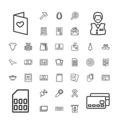 37 card icons vector