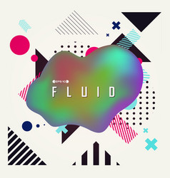 abstract background with fluid shape and vector image
