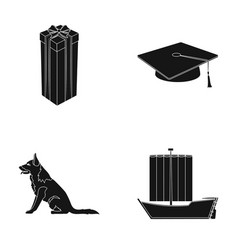 animal service and other web icon in black style vector image