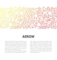 arrow line design template vector image