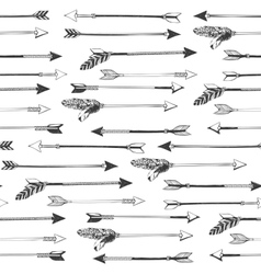 Arrows seamless pattern vector image