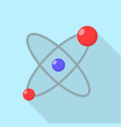 atom molecule icon flat style vector image