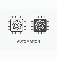 Automation icon for graphic vector