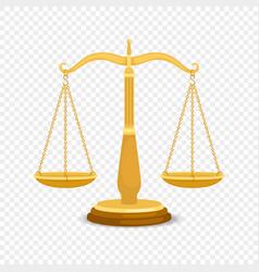 balancing gold metal scales vector image