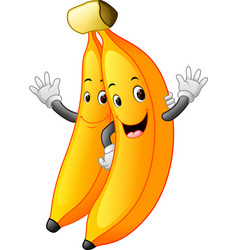 bananas with face vector image