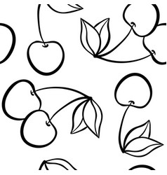 beautiful black and white seamless doodle pattern vector image
