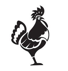Black chiken vector