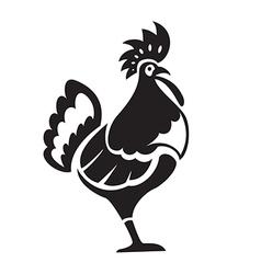 Black chiken vector image