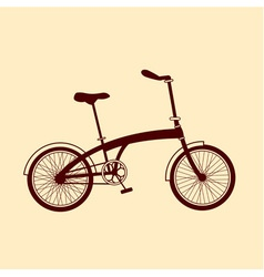 Brown bicycle on yellow background vector image