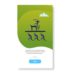 Business people team hold businessman vector