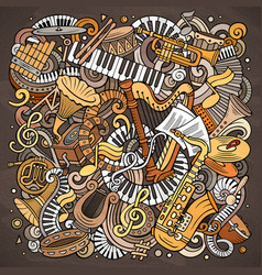 cartoon doodles classic music vector image