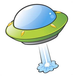 Cartoon Flying Saucer vector