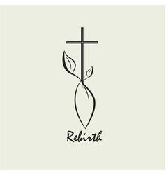 christian rebirth logo vector image
