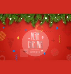 Christmas composition holiday wishes on vector