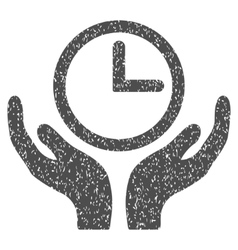 Clock Maintenance Hands Grainy Texture Icon vector