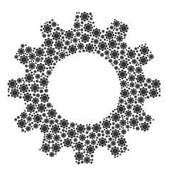 cogwheel composition of gear icons vector image